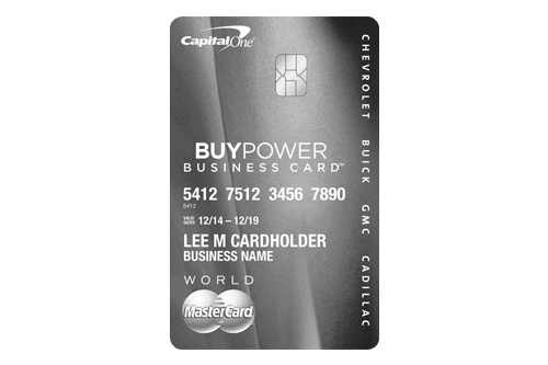 GM BuyPower Business Card from Capital One® - Get The Card That Helps You Get The Car